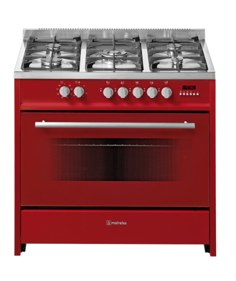 MEIRELES 90cm Freestanding Gas/Gas - Stove Red