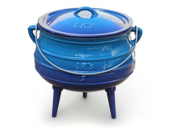 LK's Potjie Pot 3-Leg #3 Enamel - Blue