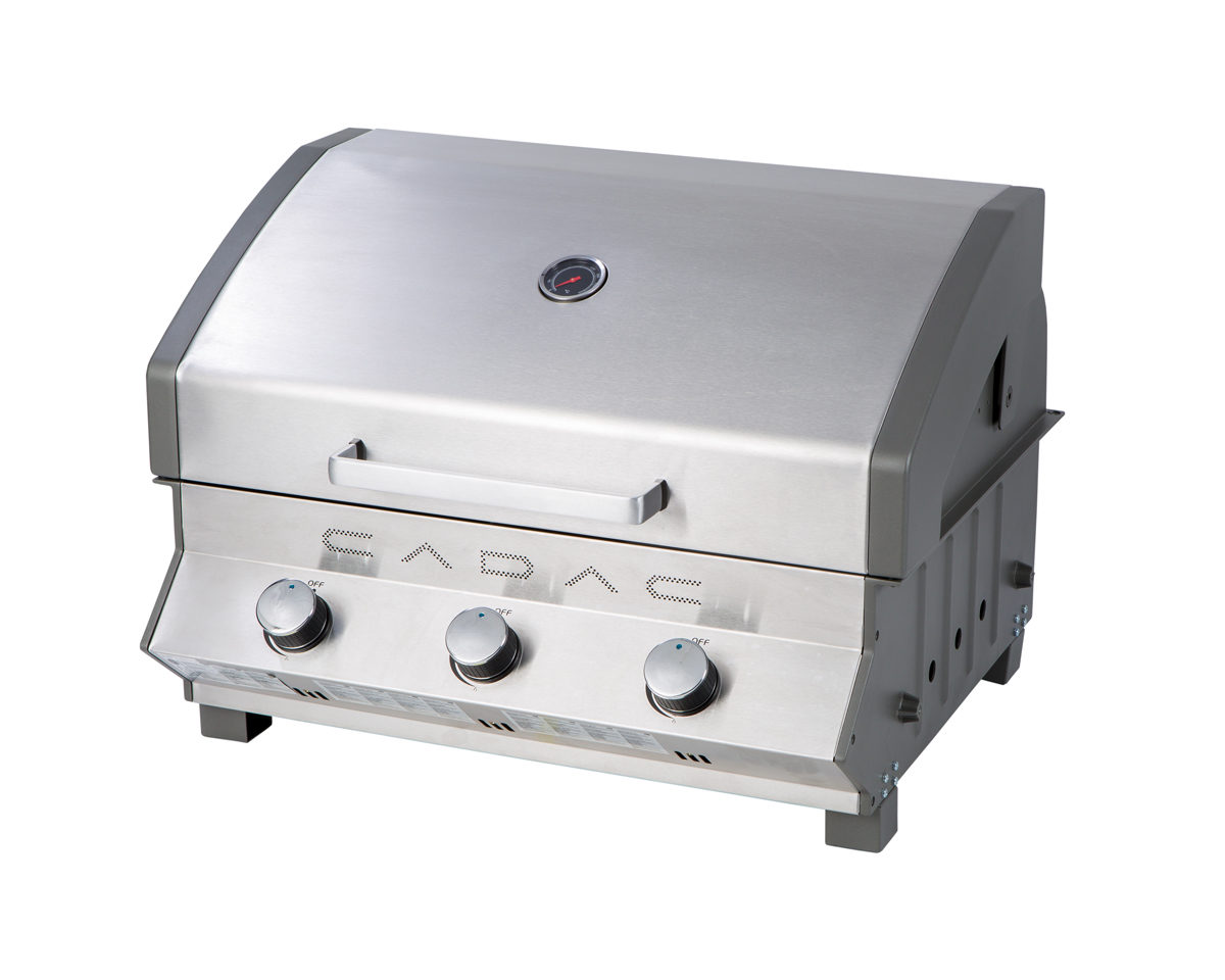 CADAC Meridian Counter Top 3 Burner BBQ | Gas Extreme