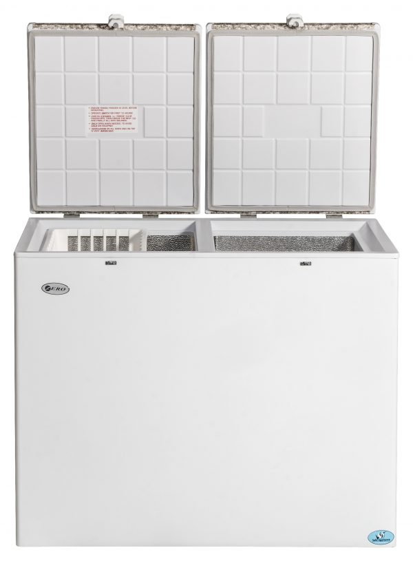 260L Gas/Electric Double Bin Chest Fridge/Freezer