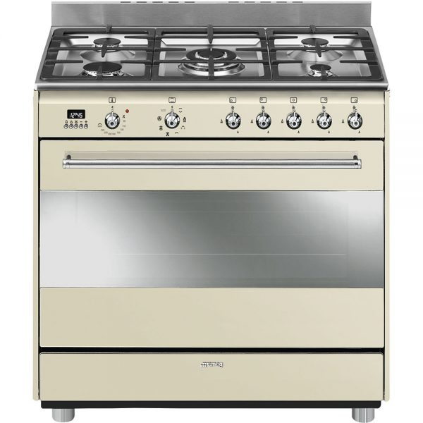 Smeg 90cm Gas-Electric Concert Cooker