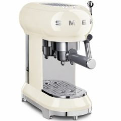 smeg Retro Espresso Coffee Machine - Vintage Cream
