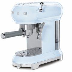 smeg Retro Espresso Coffee Machine - Pastel Blue