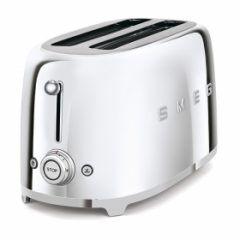 smeg Retro 4-Slice Toaster - Mirrored Chrome