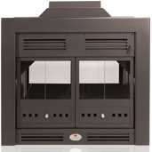 Home Fires 700 Double-Sided Built-In Wood Fireplace