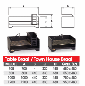 Home Fires Table Wood Braai